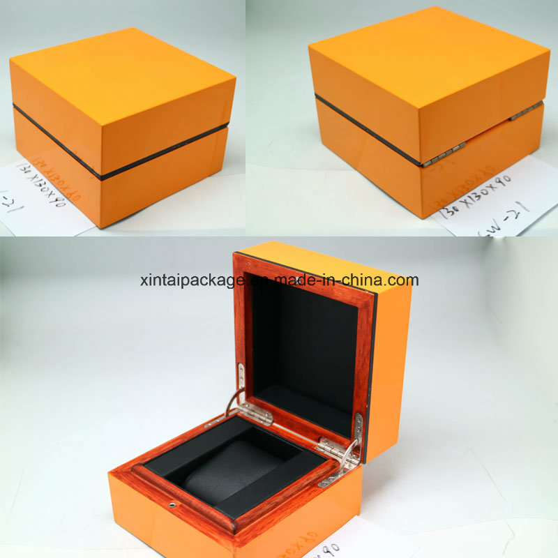 High Glossy Wooden Watch Box with PU or Velvet Insert