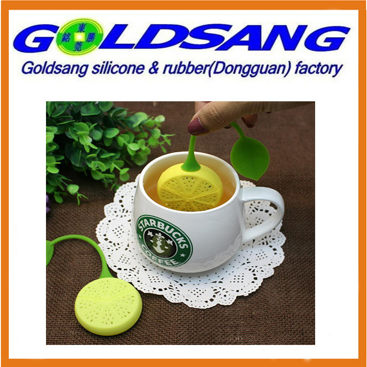 Eco-Friendly Lemon Shape Silicone Mini Tea Bag