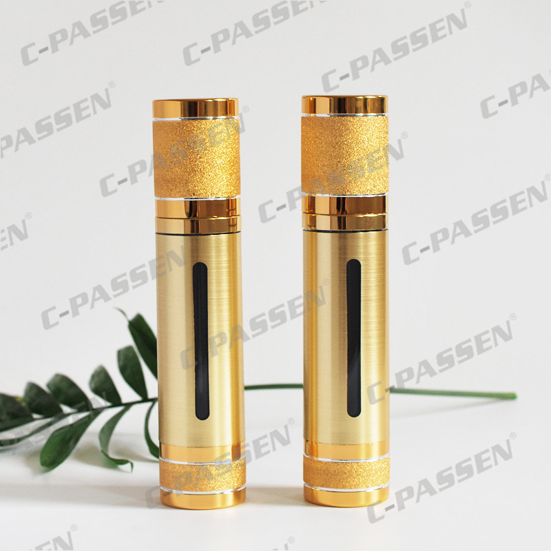Luxury Gold/Sliver Alumite Acrylic Airless Bottle for Cosmetic Packaging (PPC-NEW-018)