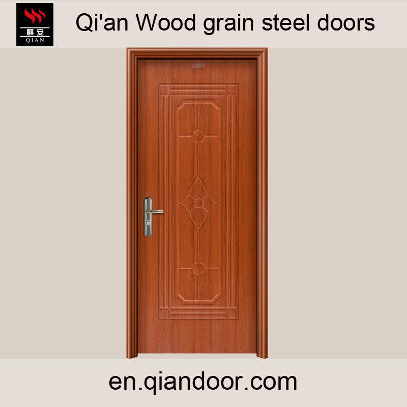 Black Walnut Heat Transfer Print Steel Door