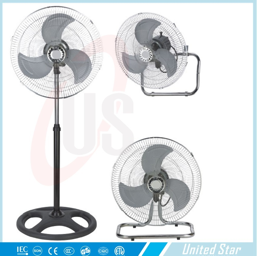 18inch 3 in 1 Electric Stand Industrial Fan Table Fan Wall Fan Ussf-724