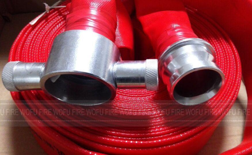 "13bar 65mm 2.5"" Red PVC Fire Hose"