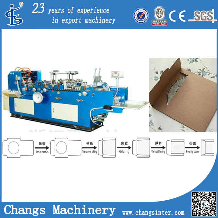 VCD-130A Paper CD Case Making Machine in China for Sale