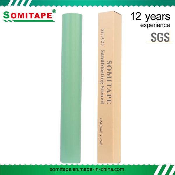 Sh3050 Super Adhesive PVC Stone Sandblast Stencil for Memorial Stones Engraving