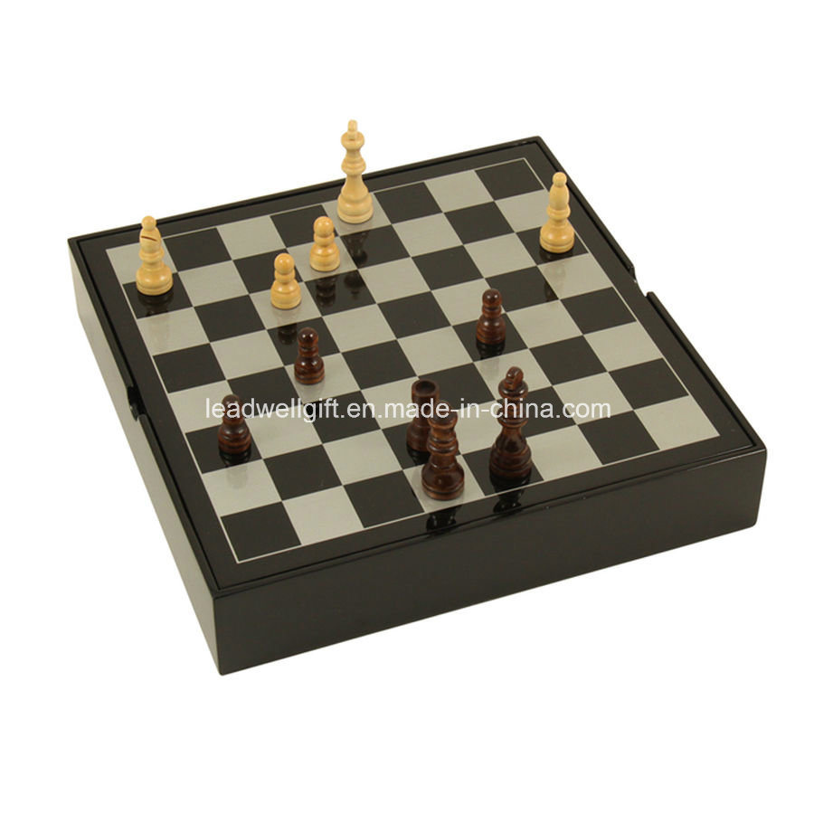 Lacquered Wood Multi Game Set