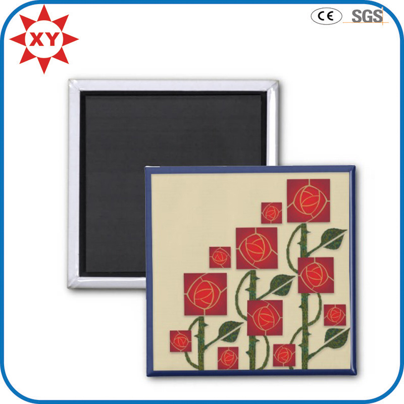 Promotional Square Beautiful Rose Fridge Magnet
