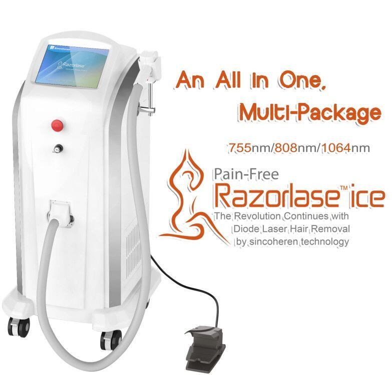 Triple Wavelength 755/808/1064nm Diode Laser Hair Removal Beauty Machine