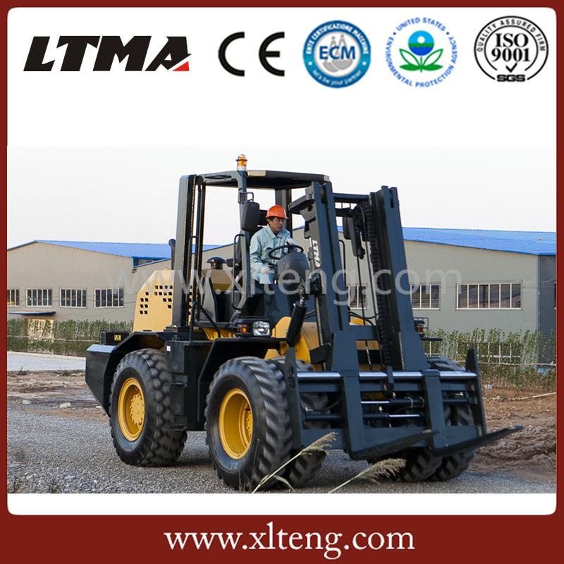 Ltma ATV Forklift 10 Ton Diesel Rough Terrain Forklift