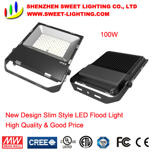 New Slim Top Quality 100W LED Flood Light with 5 Years Warranty