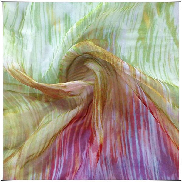 Pure Silk Chiffon Fabric for Printed