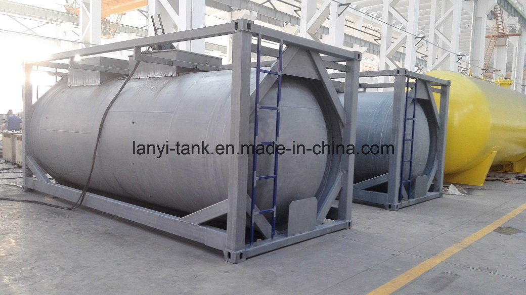 24000L 4bar PE Liner Tank Container for Hydrofluoric Acid with Imported Valves