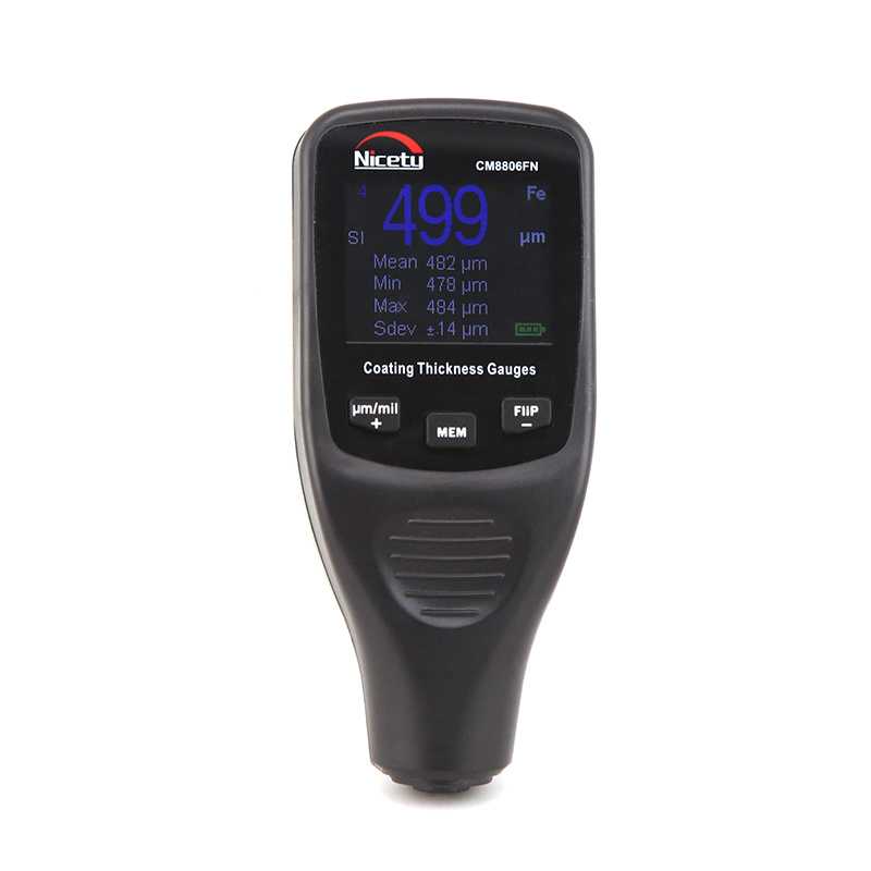 Coating Thickness Meter Paint Thickness Measuring Instruments Fe/Nfe 2 in 1 Cm8806fn
