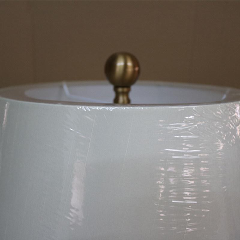 Antique Hotel Decorative Blue Ceramic Bedside Desk Light Table Lamp