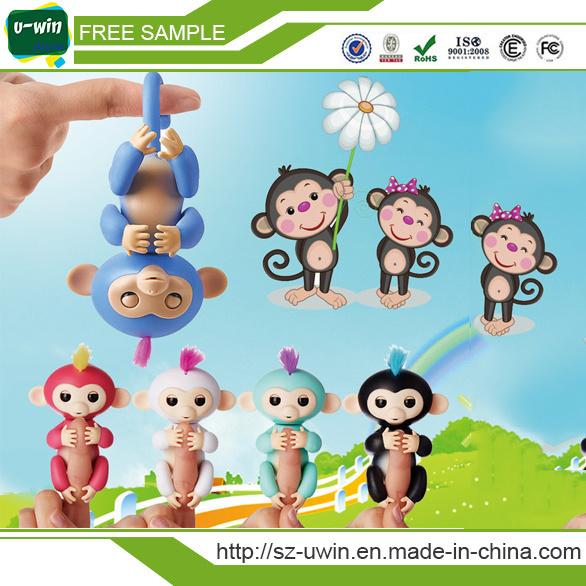 2017 Newest Design Interactive Finger Toys Wholesale Colorful Smart Fingerlings Monkey