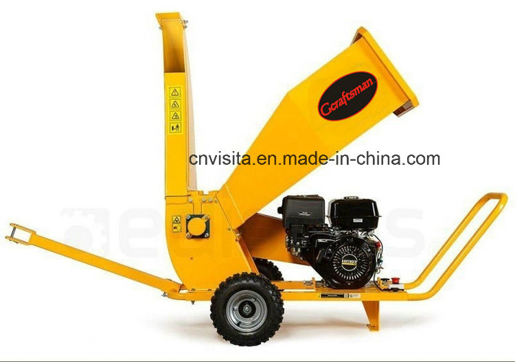 420cc 15HP Professional Gasoline Wood Chipper Shredder, Green Waste Shredder