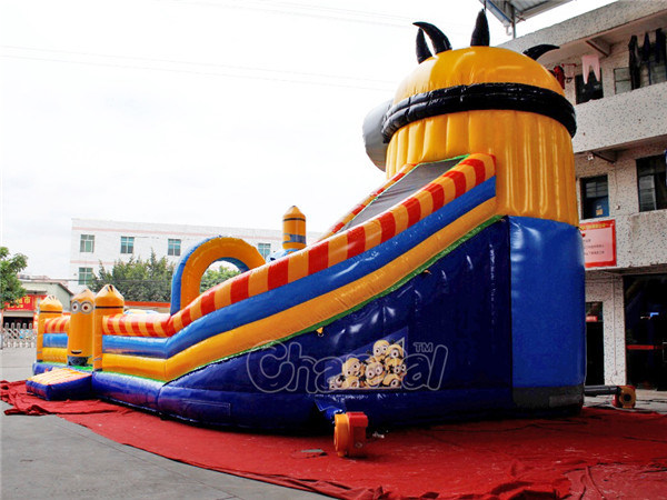 Minions Inflatable Obstacle Course Playground Chob529