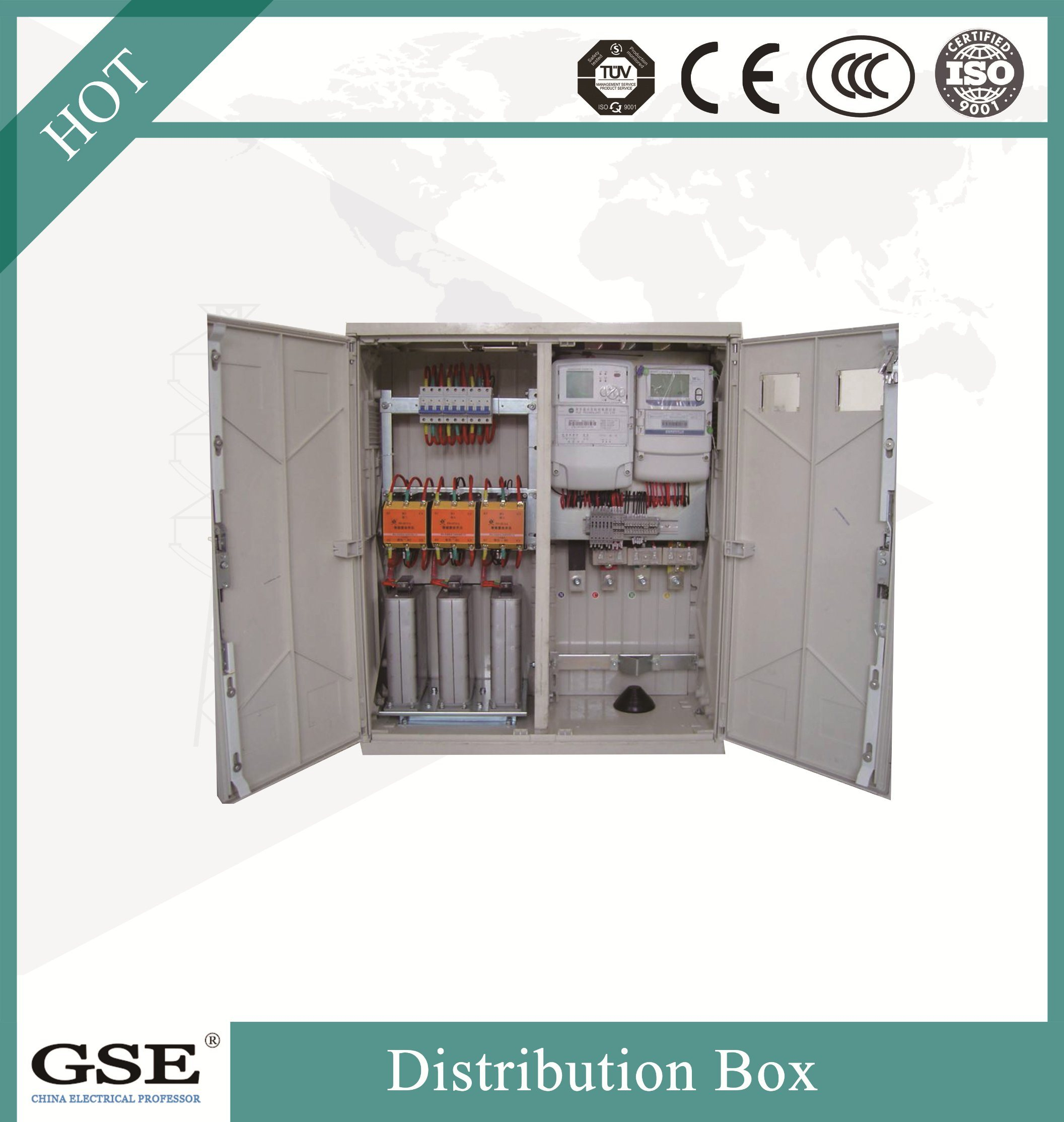 Jp-01 Outdoor Stainless Steel Water-Proof IP 56 Integrated/Comprehensive Distribution Box with Compensation/Control/Terminal/Lightning Function