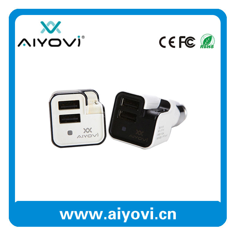 Auto Accessories Dual USB Car Charger with Air Purifier