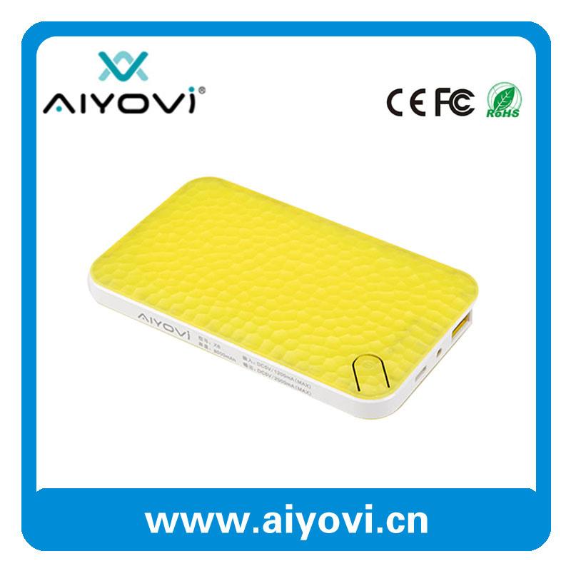 Portable Power Bank Super Slim Li-Polymer Battery 6000mAh