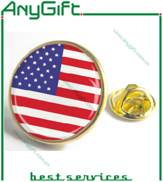 Soft Enamel Metal Pin Badge with Customized Shape and Logo