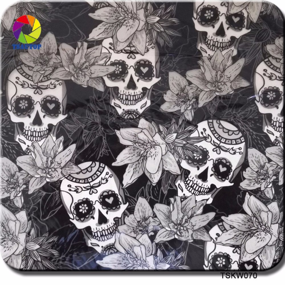 Tsautop 0.5m Width Skull Flame Zombie Hydrographic Dipping Water Transfer Printing Film