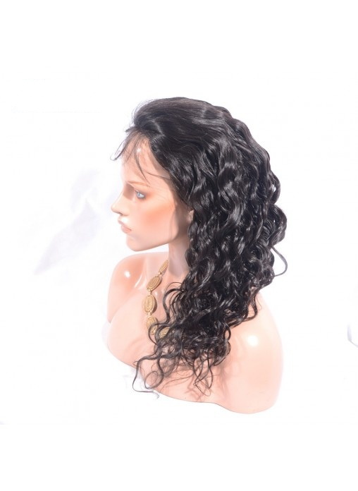 Human Hair Loose Wave Lace Front Wig Can Put Ponytail with Natural Hairline