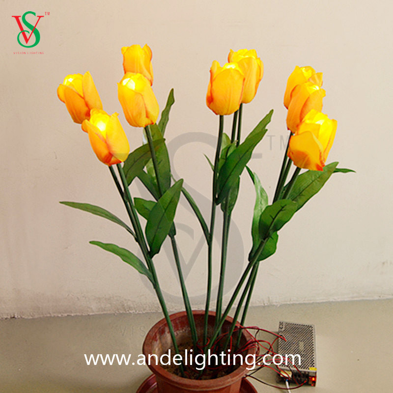 LED Artificial Flower Lights for Christmas