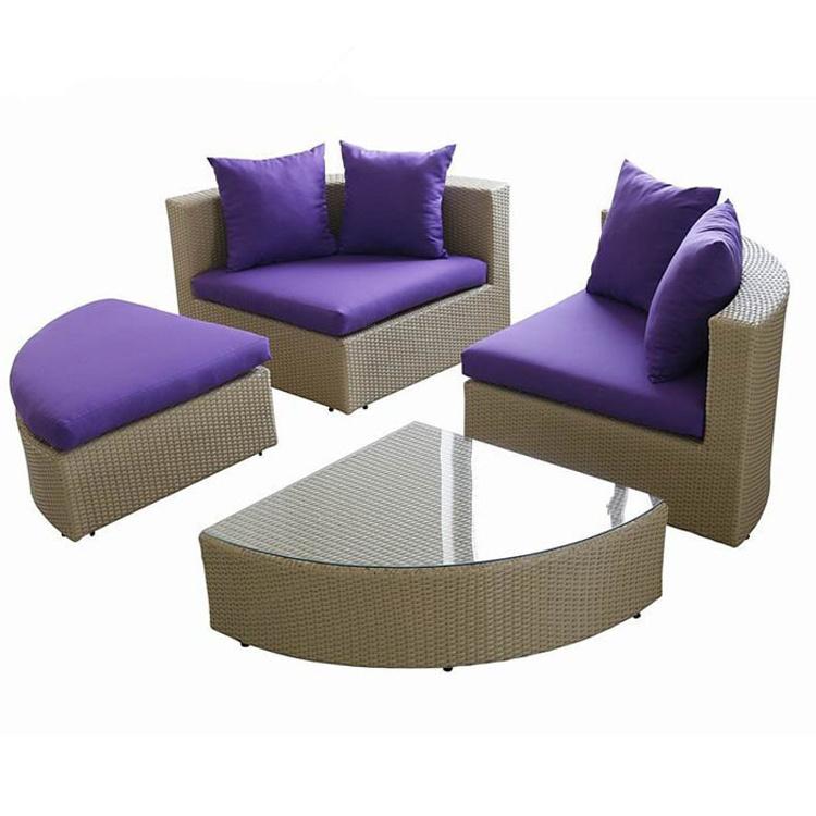 Outdoor Leisure Garden Sofa Wicker Furniture Rattan Sofa Outdoor Furniture S216