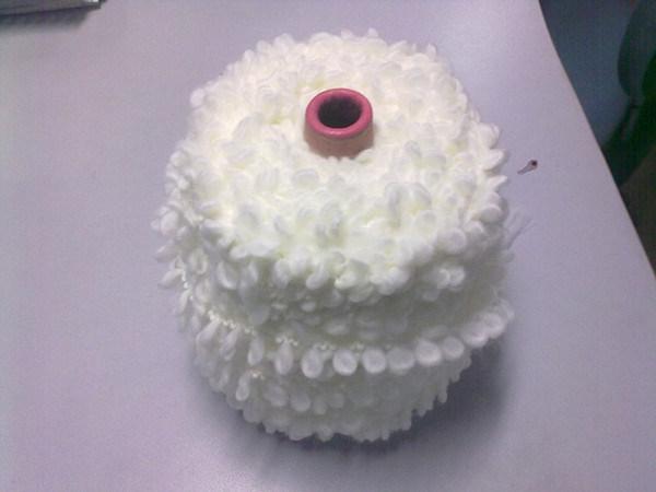 Loop Yarn of Acrylic / Polyamide 92/8 (raw white)