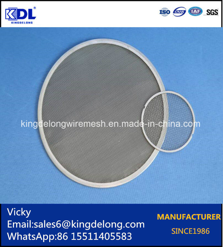 316 Stainless Steel Round Woven Wire Mesh Filter Screen
