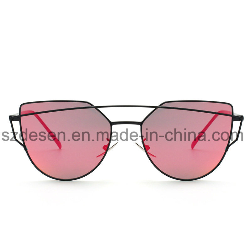 Hot Selling Custom Design Mirror Lens Metal Sunglasses