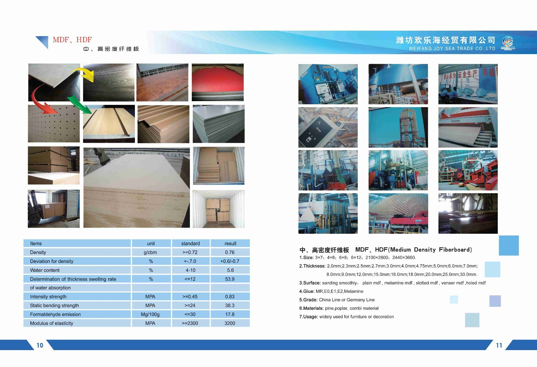 18mm High Quality Medium Density Fiberboard Multi-Purpose