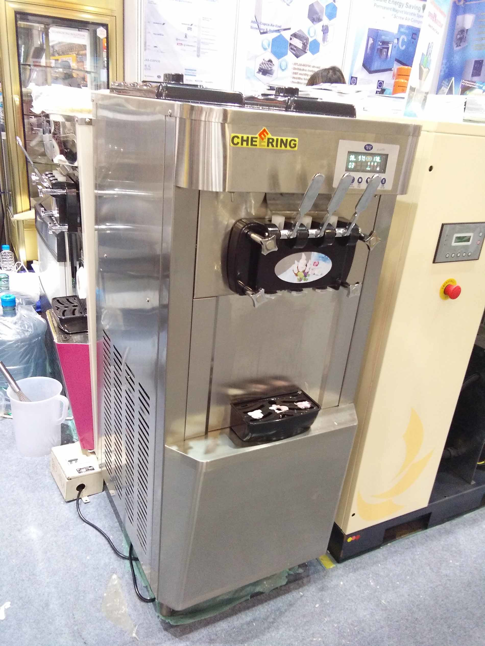 Pre-Cooling Air Pump and Soft Ice Cream Machine