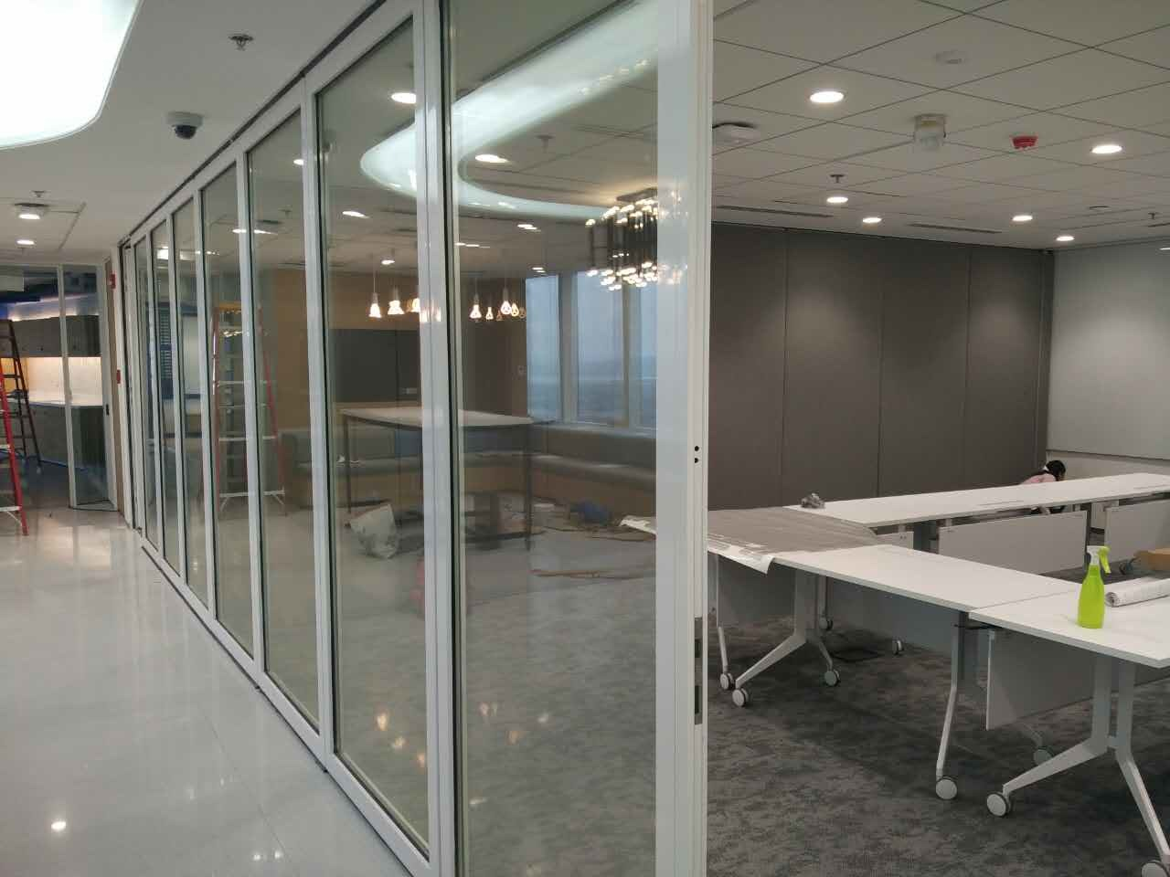 Movable Framed Glass Partition Wall for Office/Shopping Mall