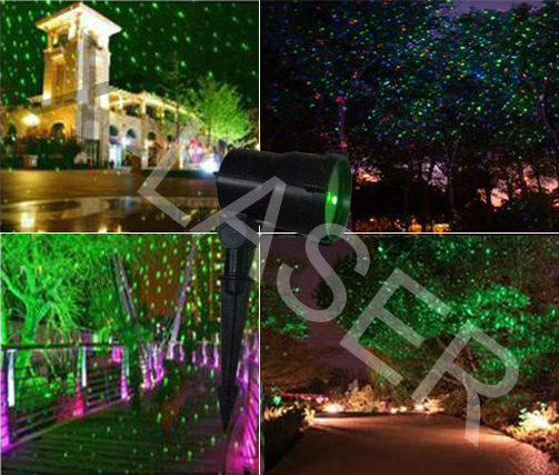 Wholesale Elf Light, New Red+Green Moving Eight Flower Garden Laser for Christmas Tree Decoration