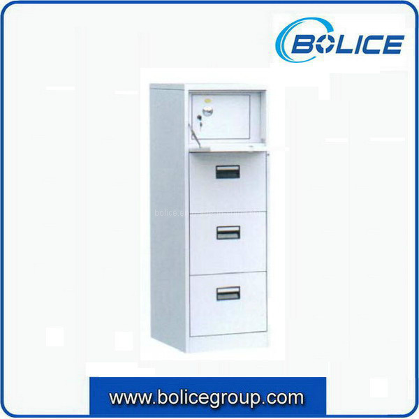 Quality 4 Drawers Office Steel File Cabinet with Security Door on Top
