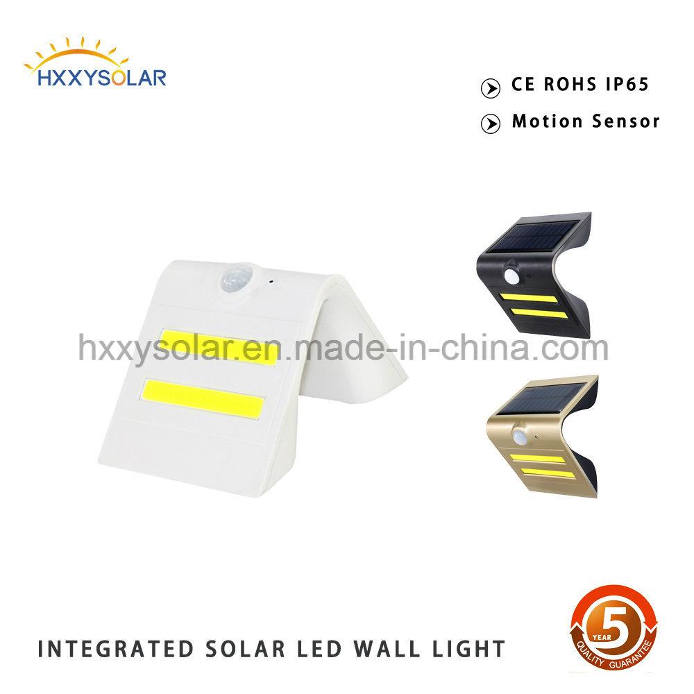 Garden Fence Wall Outdoor Light Solar Powered Security Lighting Motion Sensor Light