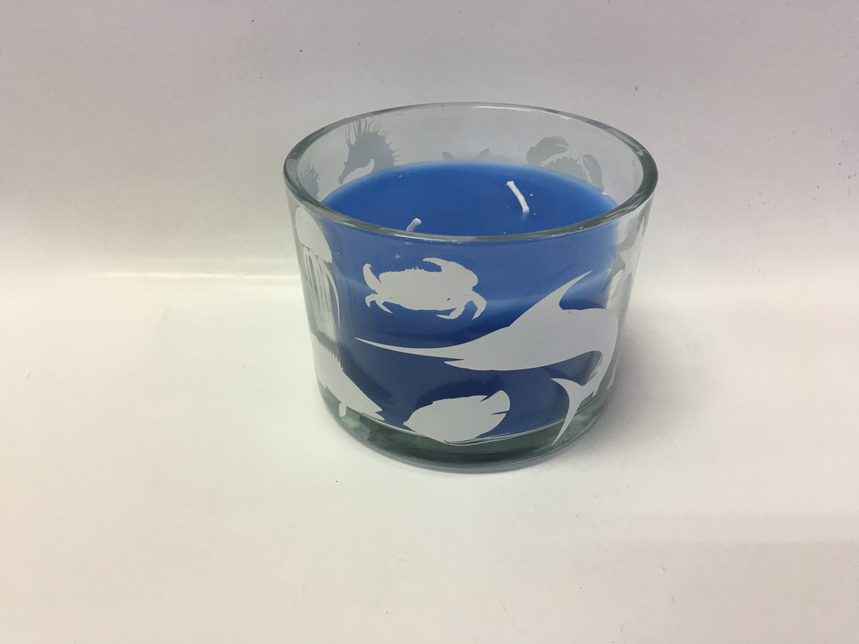 New Arrival Unique Design Glass Jar Candle with Ocean Scented