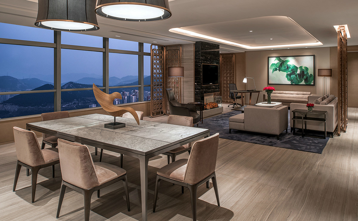 5 Star Hilton Luxury Hotel Bedroom Furniture/King-Size Hotel Furniture/Luxury 5 Star Suite Hotel Bedroom Furniture- (GLB-20170831002)