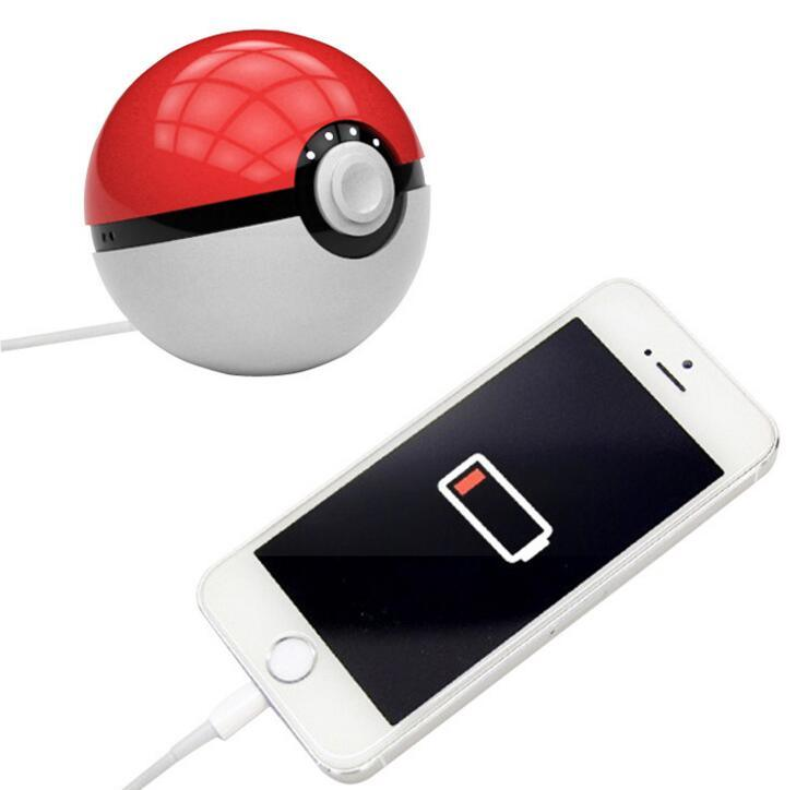 Pokemon Go Mobile Charger Cute Pokeball Portable Power Bank for Pokemon Go Game