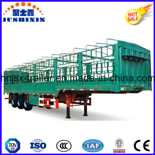Factory Supply Fence Cargo Trailer with Side Panel and Livestock