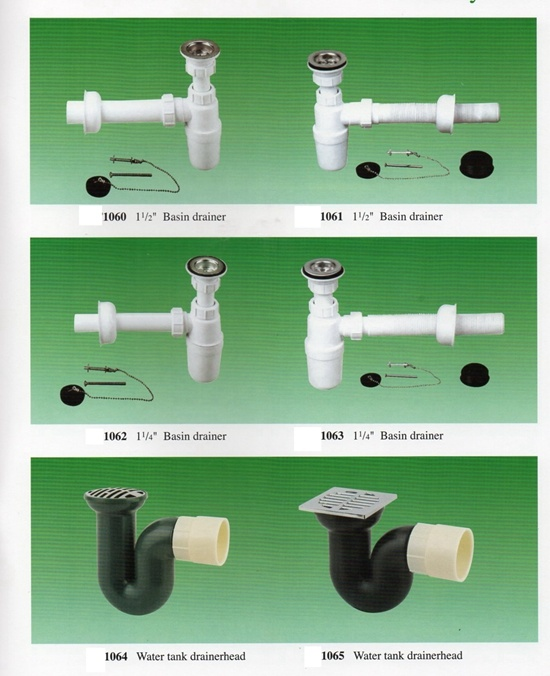 """1-1/2"""" and 1-1/4"""" PVC Bottle Drain for Sink, Basin and Floor Waste"""