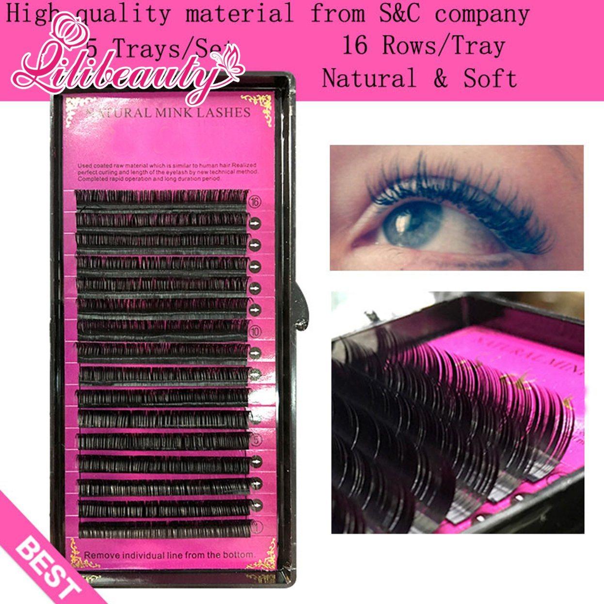 High Quality Mink Eyelash Extension, Individual Eyelashes, Natural Eyelashes, Fake False Eyelashes