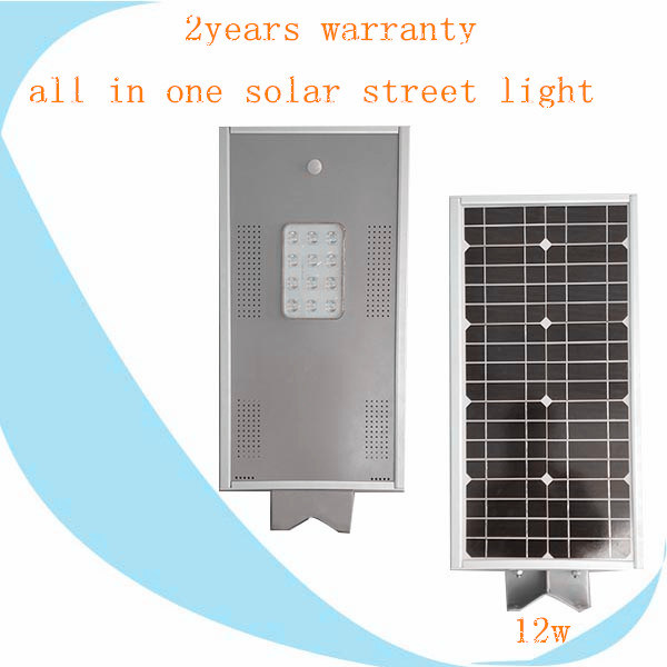 Integrated 12W Solar LED Street Garden Light with All in One