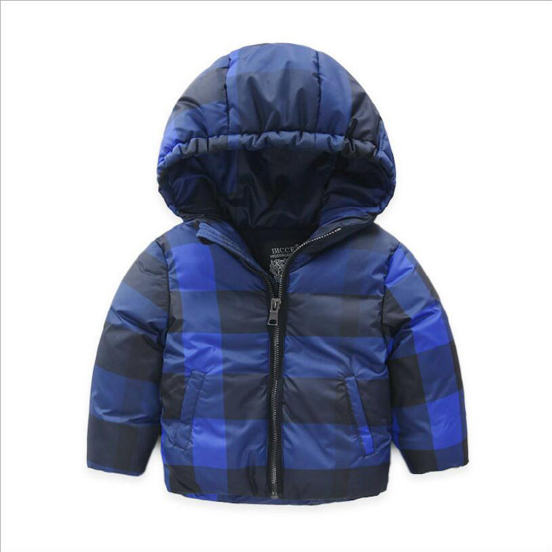 Plaid Children′s Cotton Coat for Boy Clothes