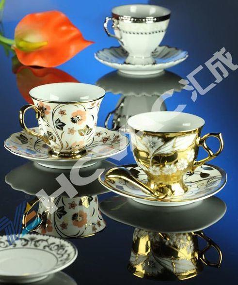 Ceramic Porcelain Tile Cups Tableware Gold Silver PVD Coating Machine
