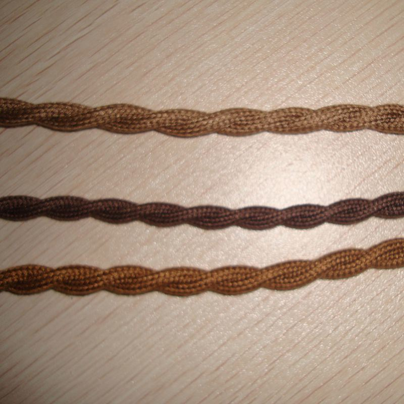 2-Wire Twisted, 100%Cotton Braided Electrical Cable, Vintage Lamp Cord