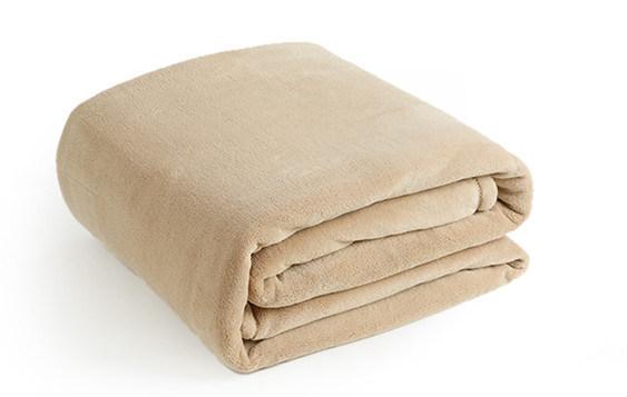 Super Soft Solid/Printed Flannel Blanket Sr-B170219-31 Solid/Printed Coral Fleece Blanket