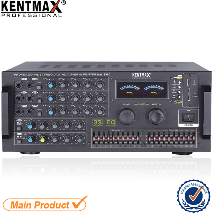 MW-9800 Factory Price Professional Digital Stereo Power Audio Amplifier