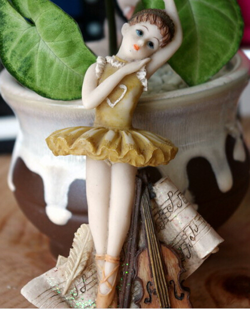Polyresin Dancing Ballet Girl Fridge Magnet Resin Souvenir